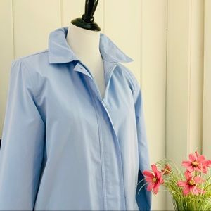 L.L. Bean Jackets & Coats - LL BEAN Light Blue Zip Front Rain Coat